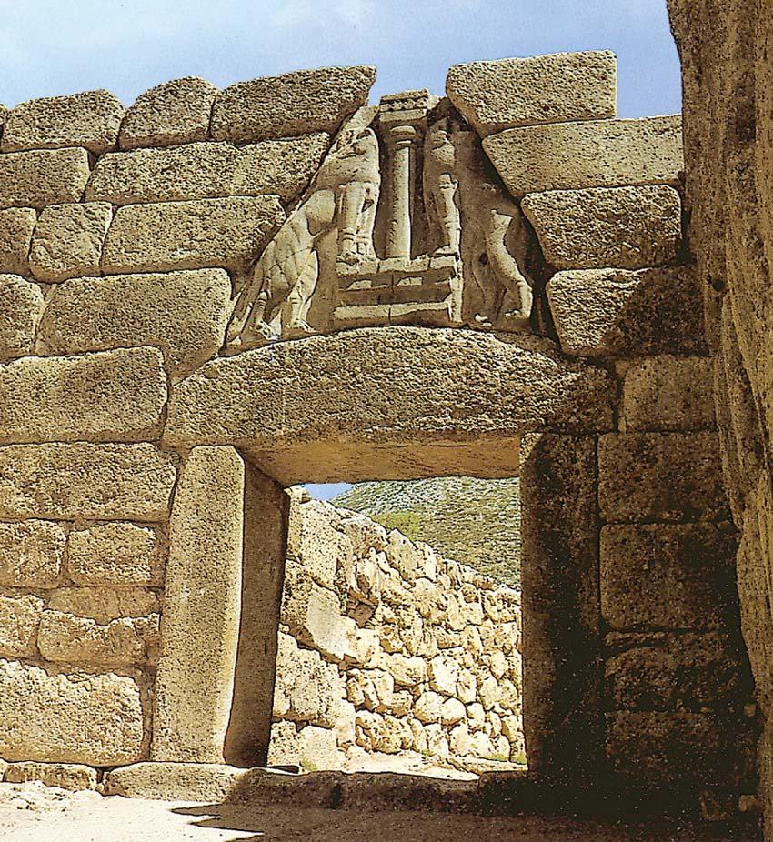 Cretese micenea - La porta dei leoni a micene ...